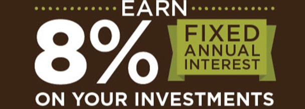 Earn 8 percent Investment